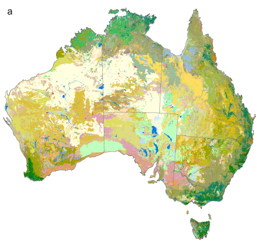 Map showing projected distributions of vegetation types derived by the AdaptNRM project by linking an ecological similarity model, developed for vascular plants, with an existing vegetation map and climate scenarios observed major vegetation subgroup