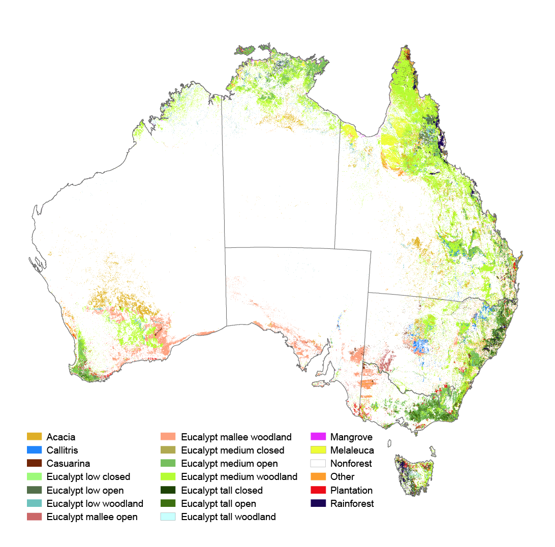 Australia Map Vegetation 200 Years Ago.Vegetation Australia State Of The Environment Report