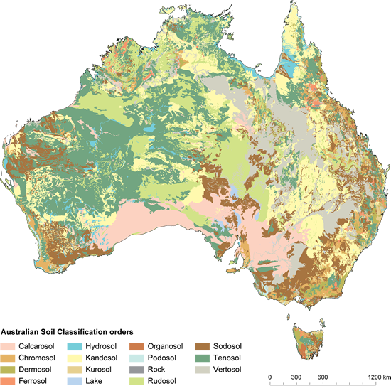Figure 5.2 - map shows soil types detailed in Table 5.2