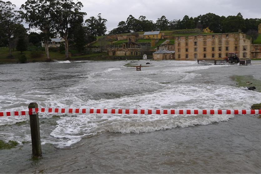 Severe weather and high tides at Port Arthur, 2011